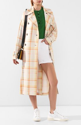 Женские кожаные кеды TOD'S белого цвета, арт. XXW31C0CU10JUS | Фото 2