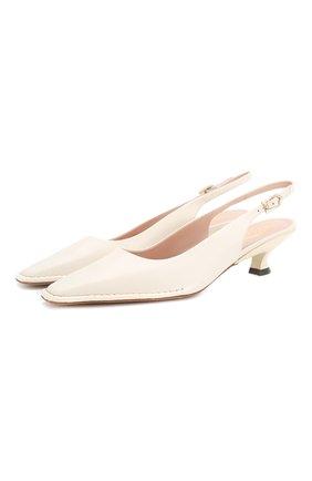 Женская кожаные туфли cuoio t35 TOD'S белого цвета, арт. XXW49C0CZ2000N | Фото 1