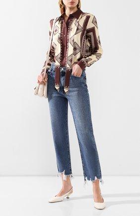 Женская кожаные туфли cuoio t35 TOD'S белого цвета, арт. XXW49C0CZ2000N | Фото 2