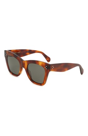 Мужские солнцезащитные очки CELINE EYEWEAR коричневого цвета, арт. 4004IN | Фото 1