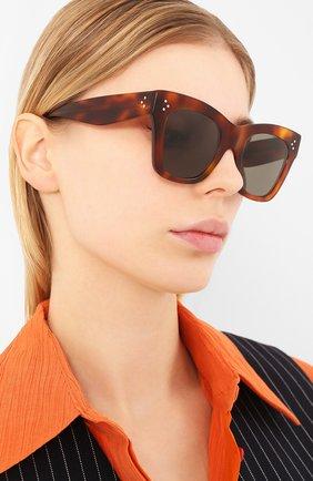 Мужские солнцезащитные очки CELINE EYEWEAR коричневого цвета, арт. 4004IN | Фото 2
