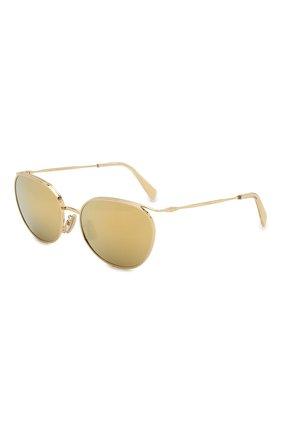Мужские солнцезащитные очки CELINE EYEWEAR золотого цвета, арт. 40136U | Фото 1