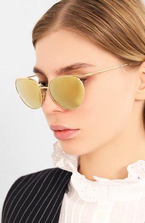 Мужские солнцезащитные очки CELINE EYEWEAR золотого цвета, арт. 40136U | Фото 2