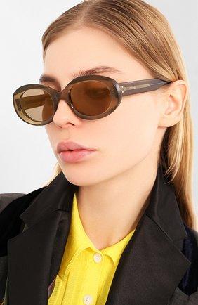 Мужские солнцезащитные очки CELINE EYEWEAR хаки цвета, арт. 40132I | Фото 2