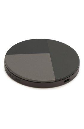 Мужская беспроводное зарядное устройство drop marquetry 10w NATIVE UNION серого цвета, арт. DROP-GRY-MARQ-V2 | Фото 2