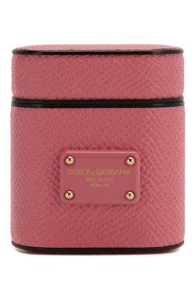 Мужской чехол для airpods DOLCE & GABBANA розового цвета, арт. BI2572/B5444   Фото 1