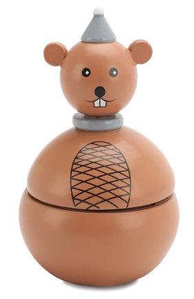 Детского игрушка музыкальная мышка BLOOMINGVILLE коричневого цвета, арт. 56200883 | Фото 1