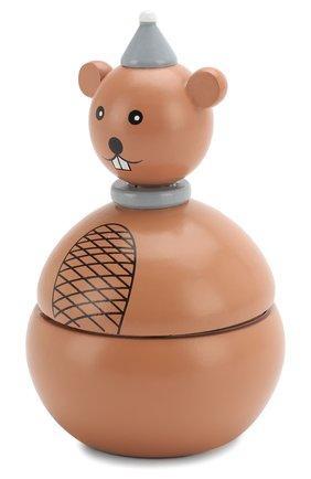 Детского игрушка музыкальная мышка BLOOMINGVILLE коричневого цвета, арт. 56200883 | Фото 2