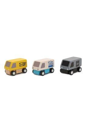 Детского игрушка из 3-х фургонов PLAN TOYS разноцветного цвета, арт. 6003 | Фото 1
