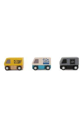 Детского игрушка из 3-х фургонов PLAN TOYS разноцветного цвета, арт. 6003 | Фото 2