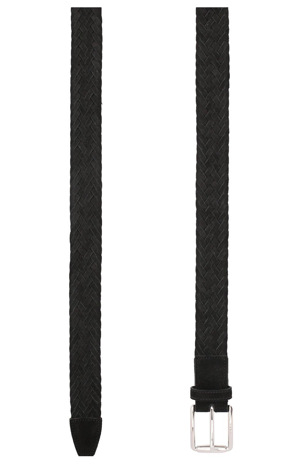 Мужской замшевый ремень TOD'S черного цвета, арт. XCMCPR23100HMK   Фото 2