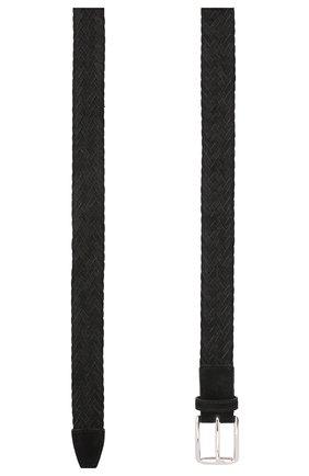 Мужской замшевый ремень TOD'S черного цвета, арт. XCMCPR23100HMK | Фото 2