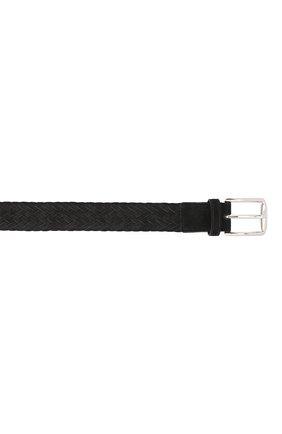 Мужской замшевый ремень TOD'S черного цвета, арт. XCMCPR23100HMK   Фото 3