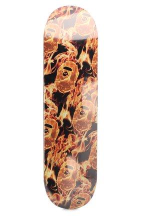 Мужского доска для скейтборда BAPE оранжевого цвета, арт. 1G30182036 | Фото 2