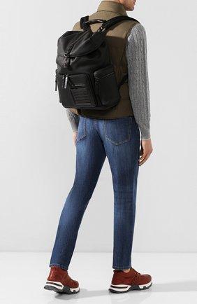 Мужской кожаный рюкзак ERMENEGILDO ZEGNA черного цвета, арт. C1555E-LHAPS/AMIS   Фото 2