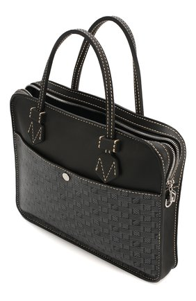 Мужская кожаная сумка для ноутбука MOREAU темно-серого цвета, арт. SCAPMMIBVBBNSTB | Фото 4