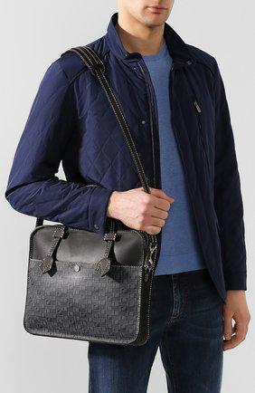 Мужская кожаная сумка для ноутбука MOREAU темно-серого цвета, арт. SCAPMMIBVBBNSTB | Фото 5