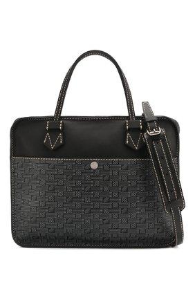 Мужская кожаная сумка для ноутбука MOREAU темно-серого цвета, арт. SCAPMMIBVBBNSTB | Фото 6