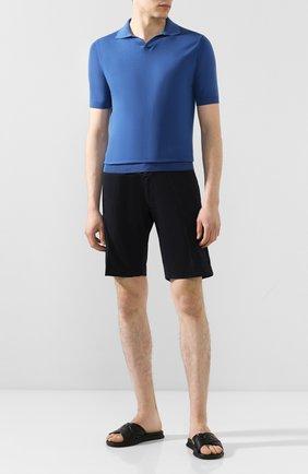 Мужские кожаные шлепанцы BOGNER черного цвета, арт. 101-A501/ACAPULK0 1A | Фото 2