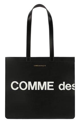 Мужская кожаная сумка COMME DES GARCONS PLAY черного цвета, арт. SA9001HL | Фото 1
