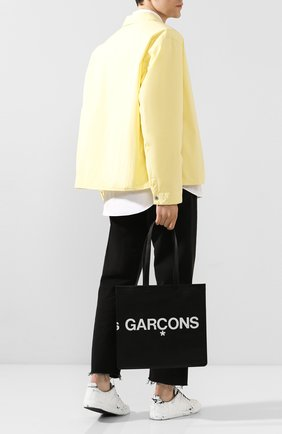 Мужская кожаная сумка COMME DES GARCONS PLAY черного цвета, арт. SA9001HL | Фото 2