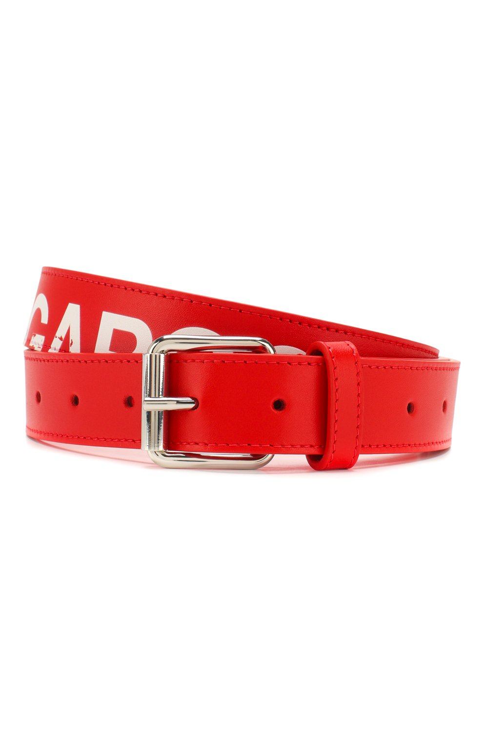 Мужской кожаный ремень COMME DES GARCONS PLAY красного цвета, арт. SA0911HL | Фото 1