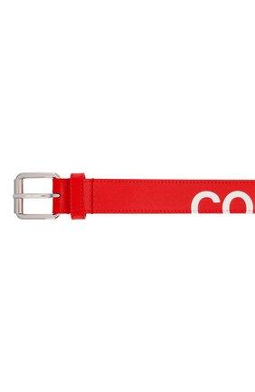 Мужской кожаный ремень COMME DES GARCONS PLAY красного цвета, арт. SA0911HL | Фото 3