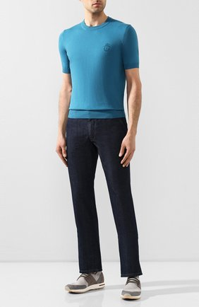 Мужские текстильные кроссовки 360 lp flexy walk LORO PIANA светло-серого цвета, арт. FAL1116 | Фото 2