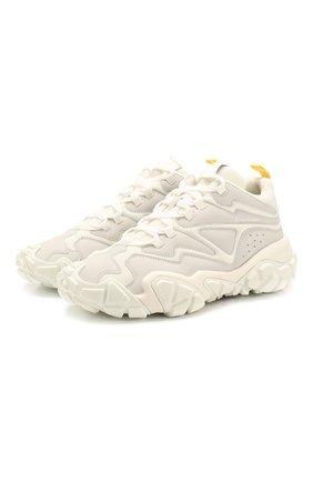 Мужские комбинированные кроссовки bolster bensen ACNE STUDIOS белого цвета, арт. BD0099 | Фото 1