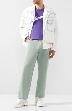 Мужские комбинированные кроссовки bolster bensen ACNE STUDIOS белого цвета, арт. BD0099 | Фото 2