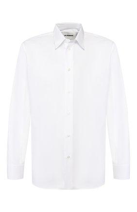Мужская хлопковая рубашка JIL SANDER белого цвета, арт. JSMQ740426-MQ24430 | Фото 1