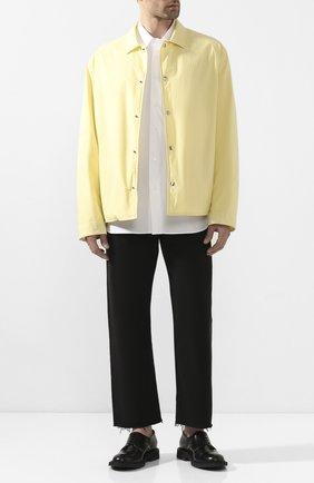 Мужская хлопковая рубашка JIL SANDER белого цвета, арт. JSMQ740426-MQ24430 | Фото 2