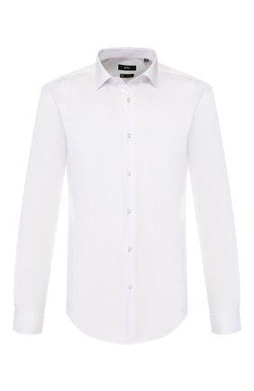 Мужская хлопковая сорочка BOSS белого цвета, арт. 50428476 | Фото 1