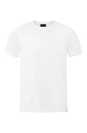 Мужская хлопковая футболка BILLIONAIRE белого цвета, арт. I20C MTK4373 BTE014N   Фото 1