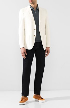 Мужской пиджак из смеси хлопка и льна LORO PIANA белого цвета, арт. FAL0965 | Фото 2