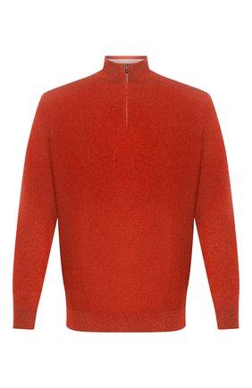 Мужской шерстяной джемпер LORO PIANA оранжевого цвета, арт. FAL0878 | Фото 1