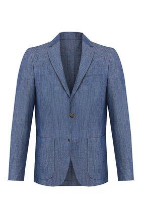 Мужской пиджак из смеси хлопка и льна LORO PIANA синего цвета, арт. FAL0961 | Фото 1