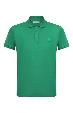 Мужское хлопковое поло MONCLER зеленого цвета, арт. F1-091-8A710-00-83921 | Фото 1