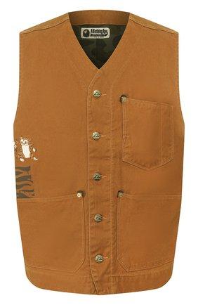 Мужской джинсовый жилет BAPE коричневого цвета, арт. 1F20140027 | Фото 1