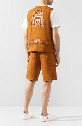 Мужской джинсовый жилет BAPE коричневого цвета, арт. 1F20140027 | Фото 2