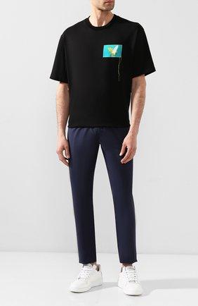 Мужской хлопковые брюки ACNE STUDIOS темно-синего цвета, арт. BK0233/M | Фото 2