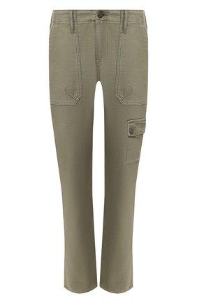 Женские хлопковые брюки FRAME DENIM хаки цвета, арт. SEP864R | Фото 1