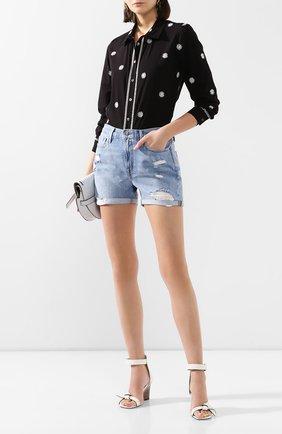 Женские джинсовые шорты FRAME DENIM синего цвета, арт. LBUSCF385 | Фото 2