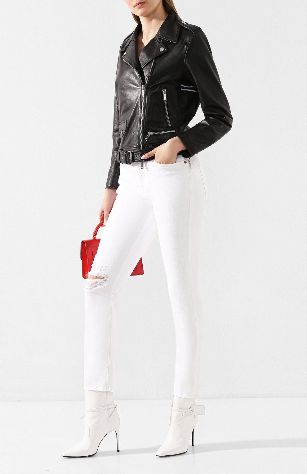 Женские джинсы FRAME DENIM белого цвета, арт. LBU711 | Фото 2