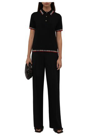 Женское шерстяное поло BURBERRY черного цвета, арт. 8029625   Фото 2