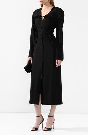 Женское шелковое платье ULYANA SERGEENKO черного цвета, арт. ABM026FW19P (1213т19) | Фото 2