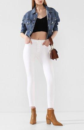 Женские джинсы FRAME DENIM белого цвета, арт. LHSKEB790 | Фото 2