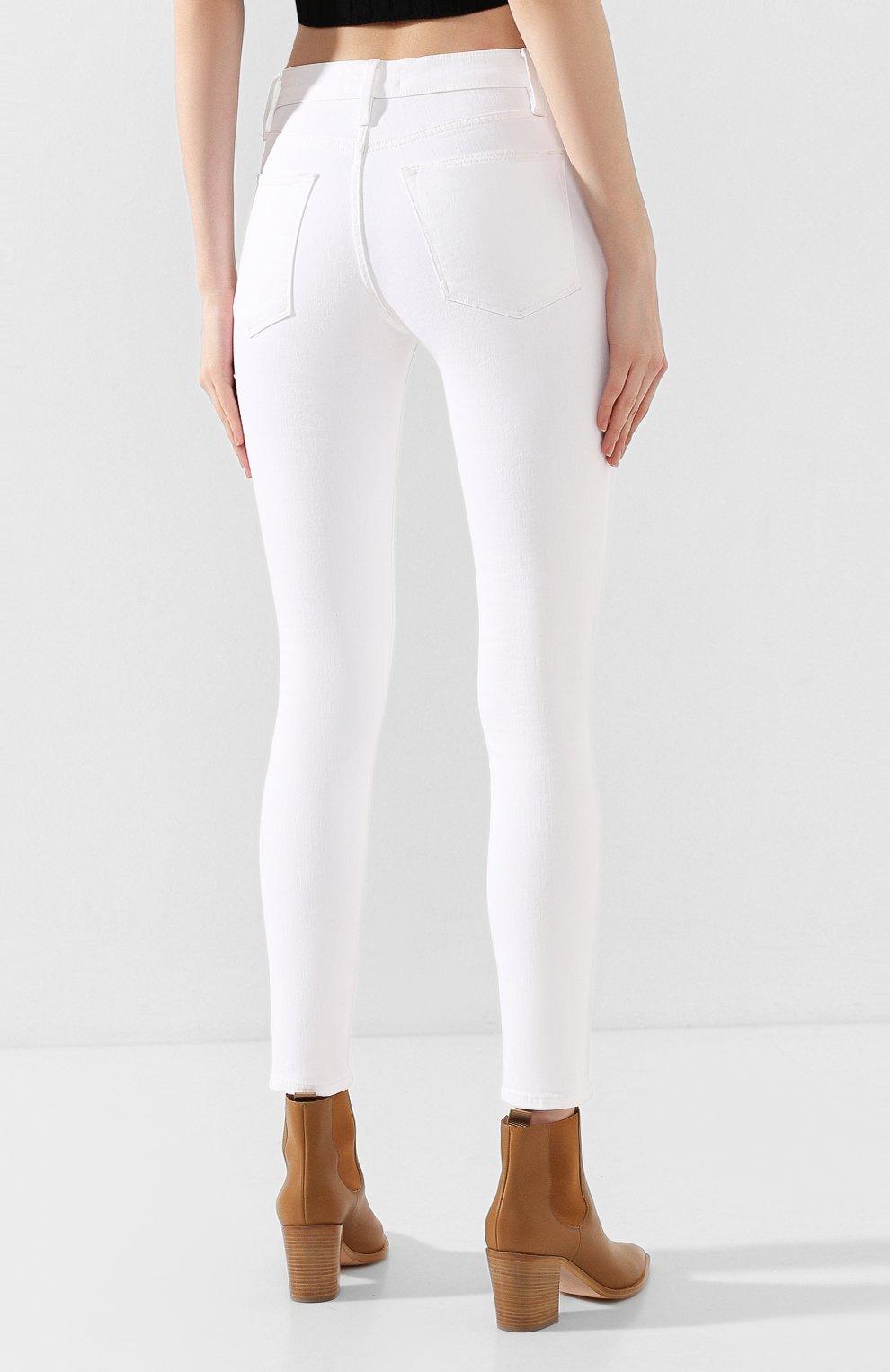 Женские джинсы FRAME DENIM белого цвета, арт. LHSKEB790 | Фото 4