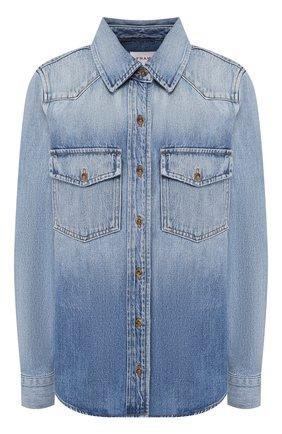 Женская джинсовая рубашка FRAME DENIM синего цвета, арт. HDSH207 | Фото 1