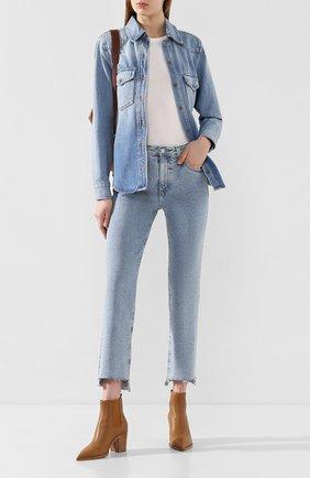 Женская джинсовая рубашка FRAME DENIM синего цвета, арт. HDSH207 | Фото 2